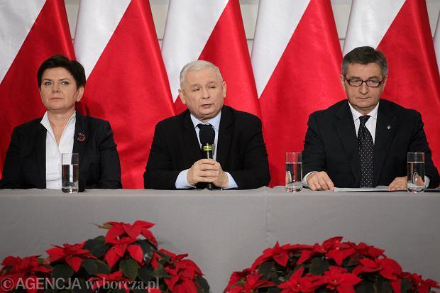 Konferencja prasowa Prezesa PiS Jarosława Kaczyńskiego