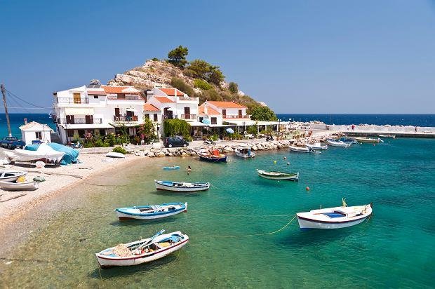 Miejscowość Kokkari na wyspie Samos