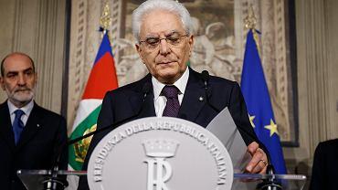 Prezydent Włoch Sergio Mattarella