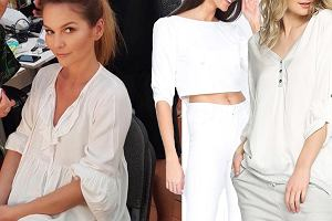 Kolaż, białe bluzki/Materiały partnera