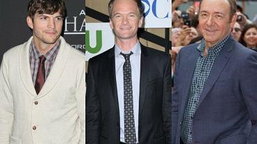 Ashton Kutcher, Neil Patrick Harris i Kevin Spacey