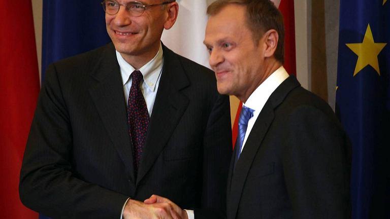 Premier Polski Donald Tusk i szef rządu Włoch Enrico Letta