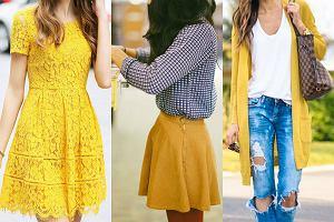 Żółty w codziennych zestawach