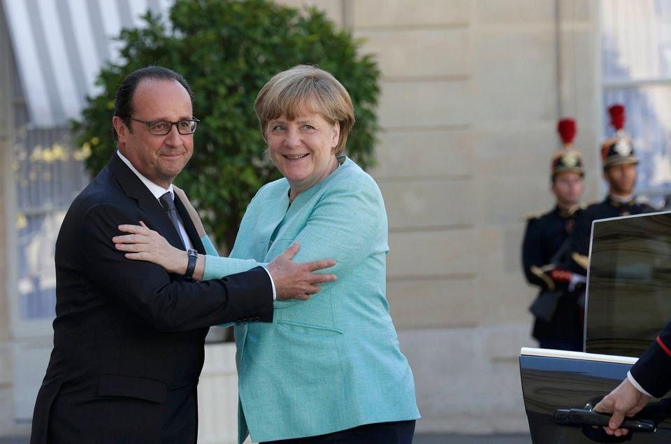 Prezydent Francji François Hollande i kanclerz Niemiec Angela Merkel.