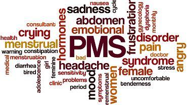 PMS - to zespół uciążliwych objawów poprzedzający  miesiączkę