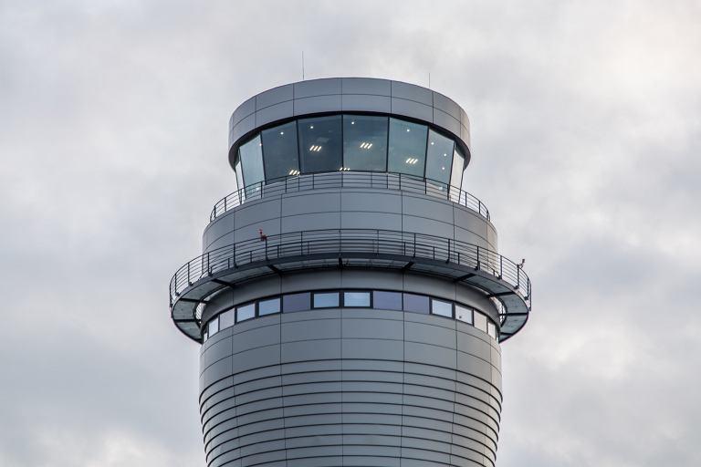 Wieża kontrolna na lotnisku Pyrzowicach