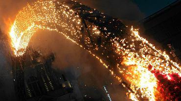 Tęcza płonie 11 listopada 2013 r.