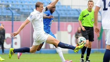 Lech Poznań - Pogoń Szczecin 0:0 w sparingu rozegranym we Wronkach. Maciej Dąbrowski i Muhamed Keita