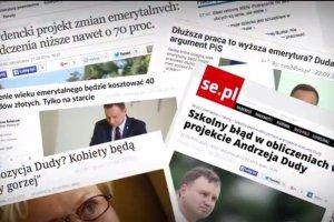 Platforma straszy emerytów projektem Andrzeja Dudy. Wypuściła nowy spot