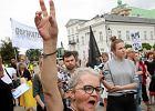 Pikieta na Krakowskim Przedmieściu. Żądali delegalizacji ONR