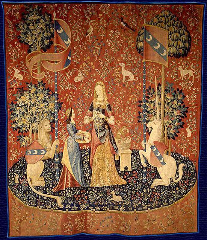 Kết quả hình ảnh cho lady and the unicorn tapestry