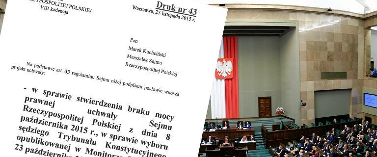 Sta�o si�! Sejm (PiS i Kukiz'15) anulowa� wyb�r 5 s�dzi�w TK! Platforma wcze�niej opu�ci�a sal�