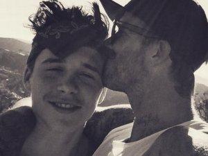Brooklyn Beckham z ojcem