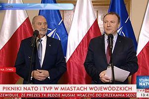 """Macierewicz i Kurski zapraszają na pikniki NATO. """"Telewizja Polska i wojsko są z narodem"""""""