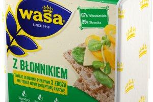 Pieczywo chrupkie WASA. Produkt bogaty w błonnik, który reguluje trawienie