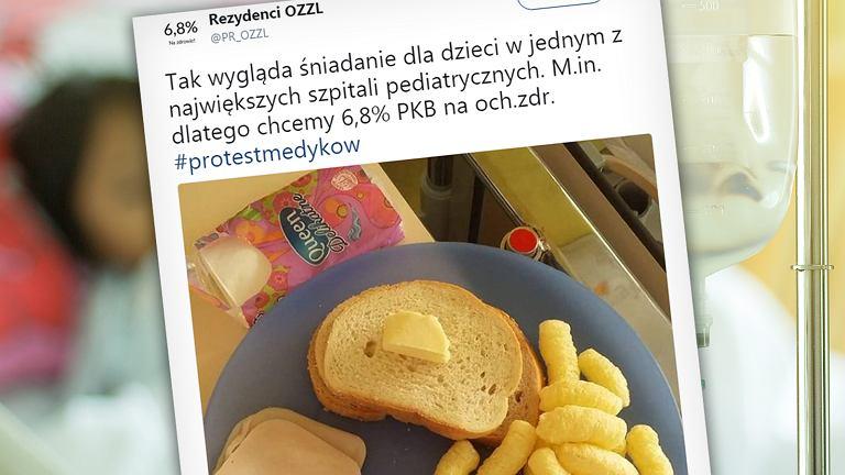 Śniadanie dla dzieci w Dziecięcym Szpitalu Klinicznym w Warszawie