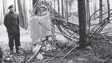 Teren zakładów chemicznych w Bydgoszczy po tragicznej eksplozji w jednej z wytwórni w 1952 roku