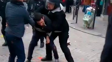 Alexandre Benalla w trakcie majowej demonstracji w Paryżu