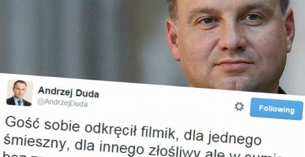 Prezydent Andrzej Duda komentuje sprawę internauty