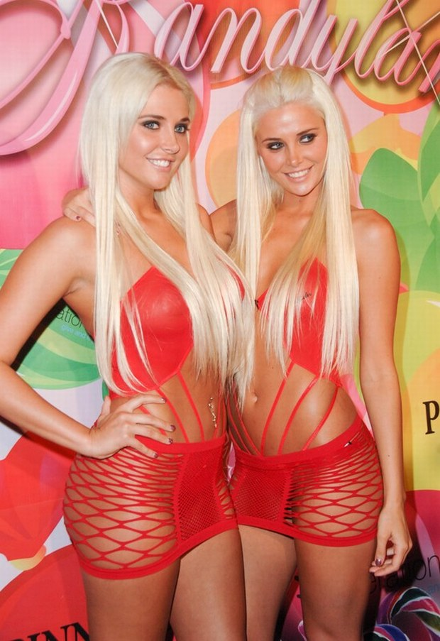 HOLMBY HILLS, CA - JUNE 25: Kristina Shannon and Karissa Shannon at the 6th Annual Kandyland Event Produced by the Karma Foundation to Benefit Operation USA for Japanese disaster relief held at The Playboy Mansion on June 25, 2011 in Holmby Hills, California. (Photo by Albert L. Ortega/PictureGroup)