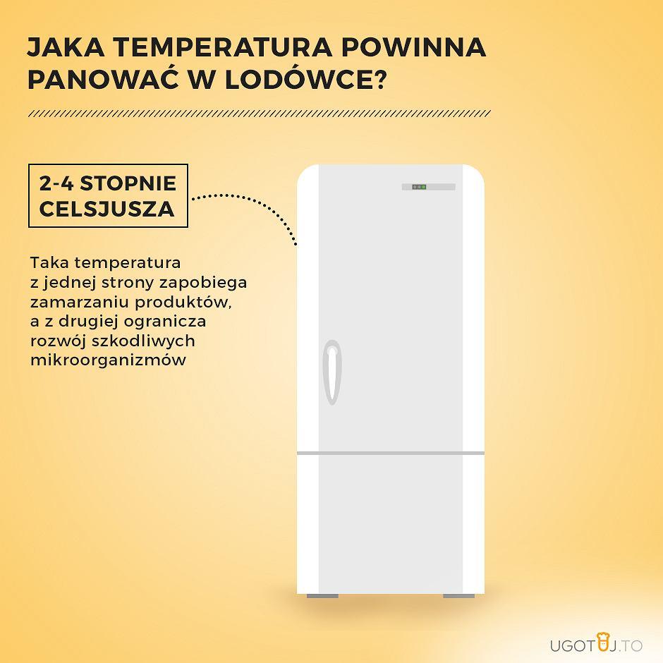 Jaka temperatura powinna panować wewnątrz lodówki?