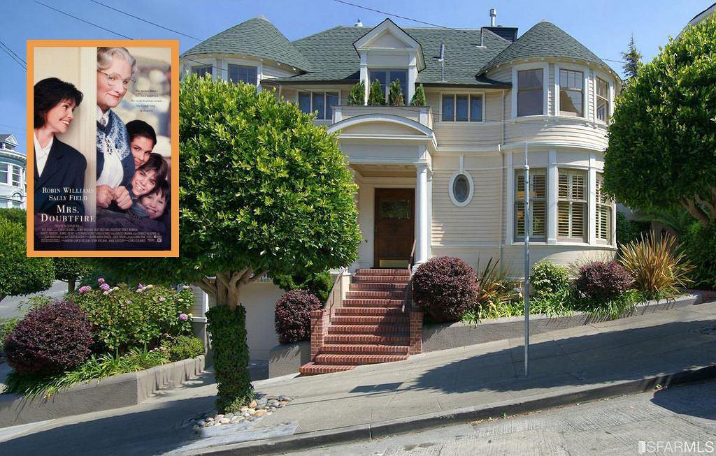Dom znajduje się w San Francisco ze wspaniałym widokiem na zatokę