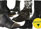 Płaskie botki w czarnym kolorze na zimę 2012/13 - ponad 100 propozycji