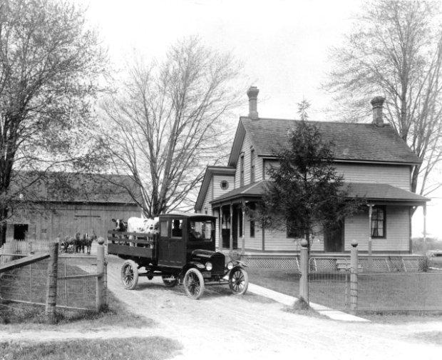 Ford Model T w roli samochodu farmera