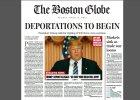 """Donald Trump wygrywa wybory: """"Zaczynaj� si� deportacje"""", """"gie�dy ton�"""". Akcja """"Boston Globe"""""""