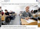 ''Dziadek'' ma 80 lat i właśnie jedzie na Erasmusa. W studenckie wojaże wyrusza z żoną