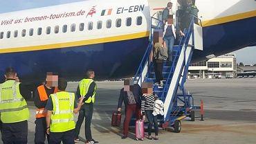 Ewakuacja samolotu Ryanair