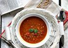 Zupa pomidorowa z soczewic� i mas�em orzechowym