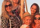 Elżbieta Romanowska z przyjaciółkami na wakacjach