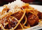 Spaghetti z pomidorowym sosem z klopsikami z mi�sa wo�owego