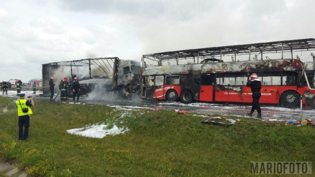 Wyrok za spowodowanie karambolu na A4, w którym spłonął autobus PolskiegoBusa