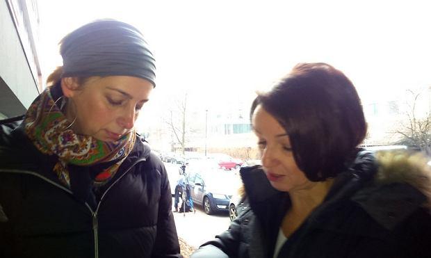 Nauczycielki z Zabrza - Ola i Katarzyna, które staną przed komisją dyscyplinarną za popieranie Czarnego Protestu