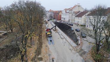 Budowa ulicy Pieniężnego