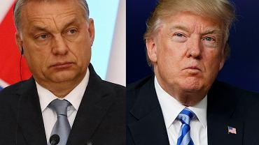 Premier Węgier Viktor Orban (z lewej) i prezydent USA Donald Trump (z prawej)