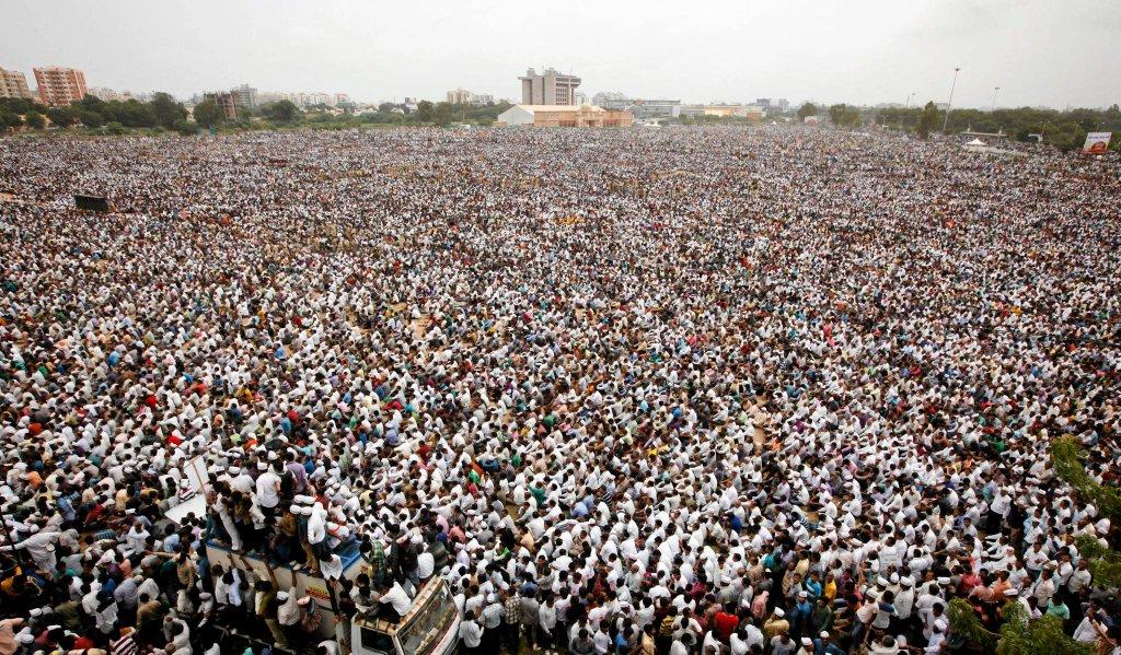 Protestujący w Ahmedabadzie