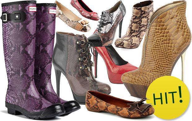 Buty z wężowej i krokodylej skóry