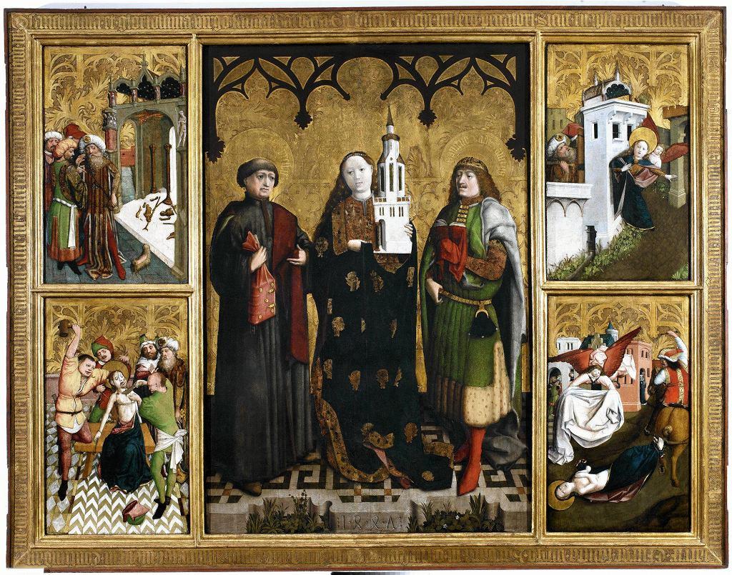 Ołtarz św. Barbary Wilhelma Kalteysena von Oche. Wystawa 'Migracje' w Muzeum Narodowym we Wrocławiu  / LIGIER PIOTR