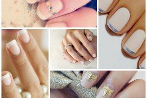 Ślubny manicure - 15 klasycznych i eleganckich propozycji
