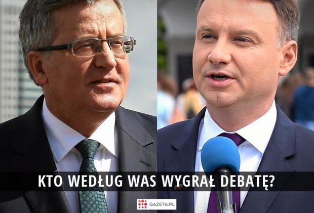 """Kto wygra� debat�? Odpowiadacie: """"Komorowski zmia�d�y� Dud�"""", """"Duda pe�na kultura"""" [WYNIKI SONDY]"""