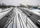Budowa trasy G�rna. Zmiany na skrzy�owaniu z Pabianick�