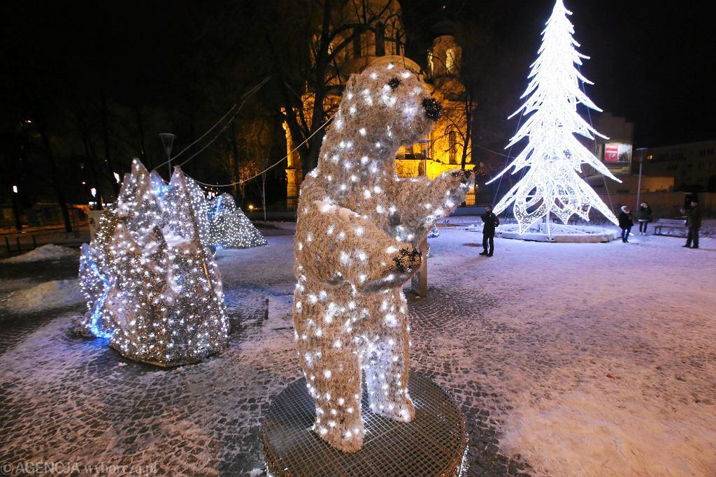 Świąteczna iluminacja w Warszawie / Fot . Kuba Atys / Agencja Gazeta