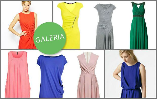 e317b12fe8 Drapowane sukienki maskujące niedoskonałości figury - ponad 90 ...