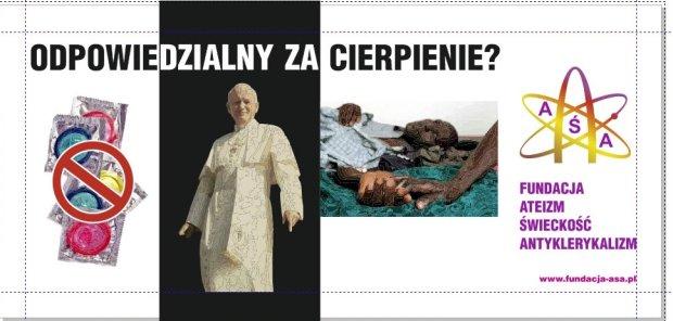 Fundacja Ateizm-Świeckość-Antyklerykalizm: Nasz billboard jest obrazem zdecydowanie antyklerykalnym
