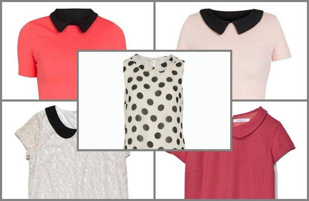 Grzeczne sukienki z ko�nierzykiem
