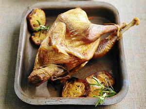 Pieczony kurczak w sosie czosnkowym