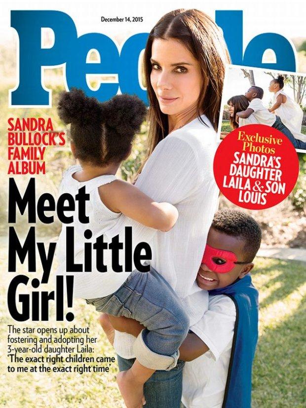 Sandra Bullock z dzie�mi